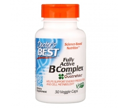 DR´S BEST Fully Active B-Complex with Quatrefolic 30 veggie caps